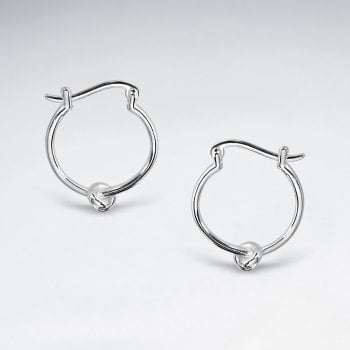 Love Knot Sterling Silver Knot Hoop Earrings