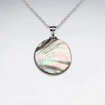 Lustrous Mother Of Pearl Circle Pendant