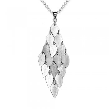 Majestic Glamour Sterling Silver Marquis Cascade Pendant