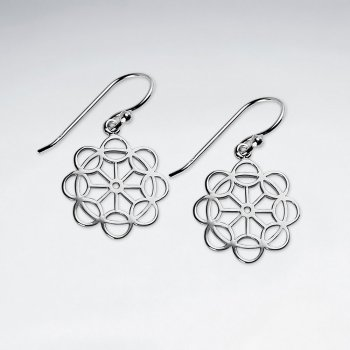 Masters of Intrigue Sterling Silver Openwork Dangle Earrings
