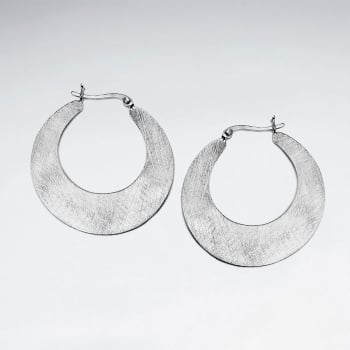 Matte Silver Hoop Silhouette Earrings