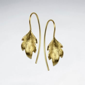 Matte Silver Leaf Silhouette Nature's Elements Earrings