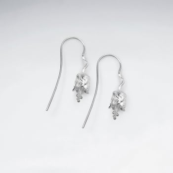 Matte Silver Nature's Beauty Dainty Flower Earrings