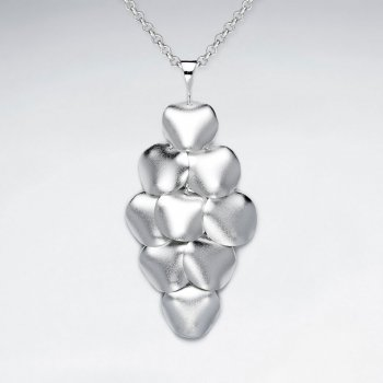 Melded Sand Blasted  Silver Diamond Shape Chandelier Pendant
