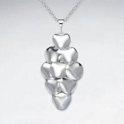 Melded Sand Blasted  Silver Diamond Shape Chandelier Pendant