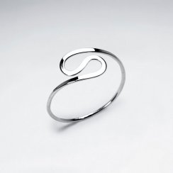 Minimalist Mod Sterling Silver Ring
