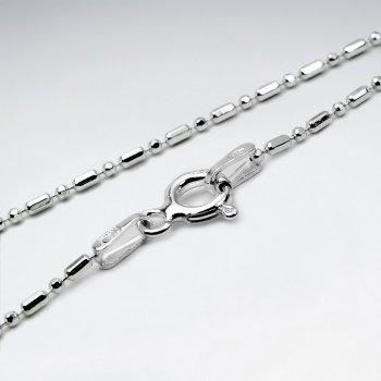 Mixed Ball Diamond Cut 925 Silver Chain