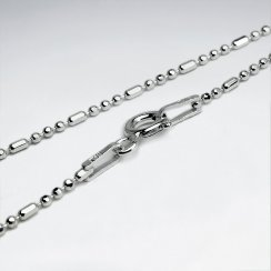 Mixed Ball Diamond Cut 925 Silver Chain