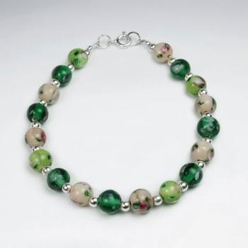Mixed Ball Glass Beads Bracelet
