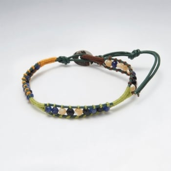 Mixed Stone Leather Bracelet
