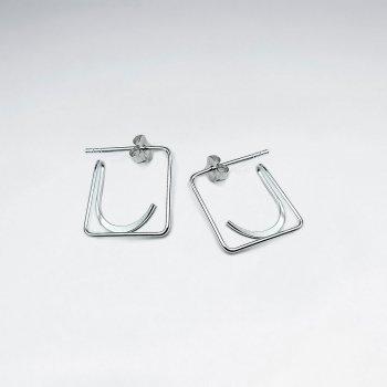Mod Geometric Sterling Silver Earrings