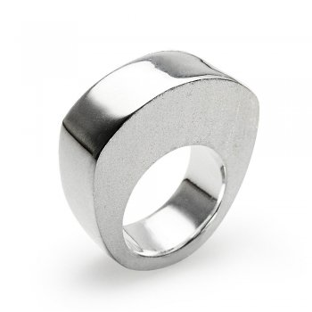 Modern Lines Sterling Silver Ring