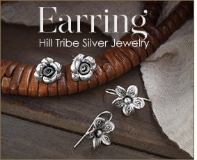 Karen Hill Tribe Silver Earrings Wholesale