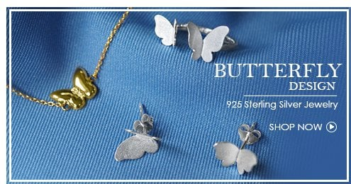 Butterfly themed 925 sterling silver wholesale jewelry