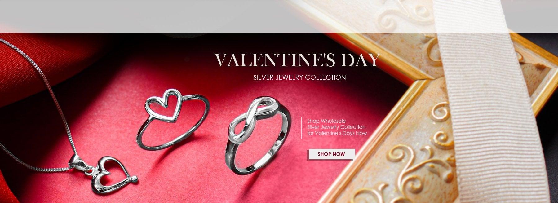 Wholesale Valentine Silver Jewelry 2021
