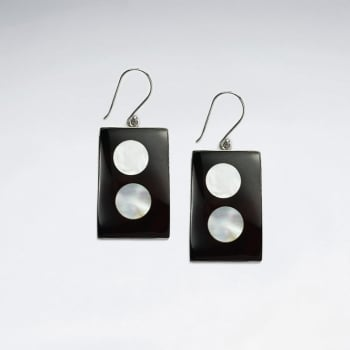 Mother Of Pearl Dice Inspired Earrings