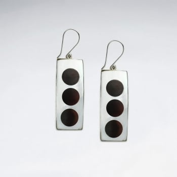 Mother Of Pearl Dotted Dangle Earrings