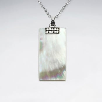 Mother Of Pearl Rectangle Elegance Pendant