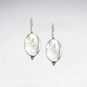 Mother Of Pearl Simple Elegance Oval Earrings