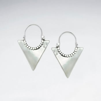Mother Of Pearl Triangle Earrings