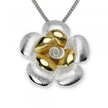 Nature's Choice Elegant Flower Pendant