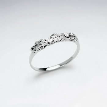 Nature's Crowning Glory Sterling Silver Leaf Ring