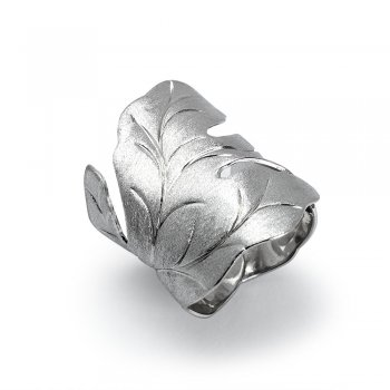 Nature's Declaration Leaf Wrap Ring in Sterling Silver