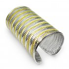Noir Two-Tone Sterling Silver Wide Bangle