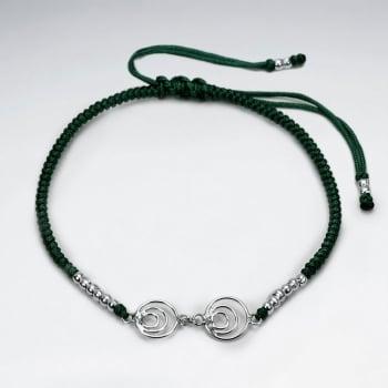 Nylon Double Open Circles Bracelet