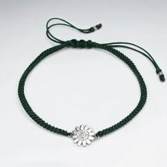 Nylon Flower Charm Bracelet