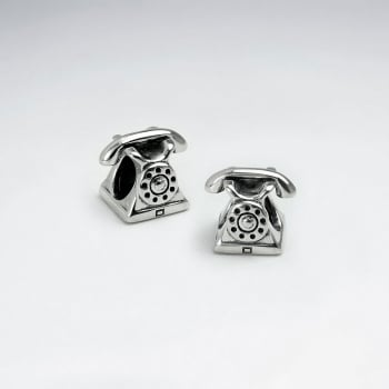 Old Fashioned Sterling Silver Telephone Beads