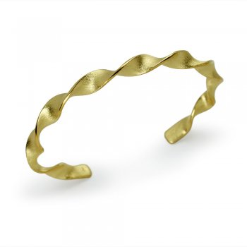Open Bangle Twist Design Bracelet