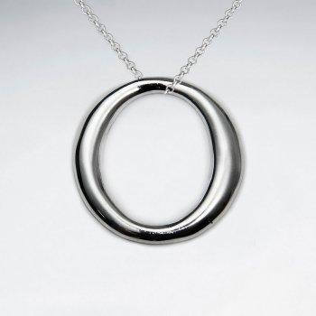 Open Circle Silver Pendant
