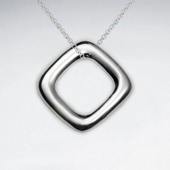Open Squre Silver Pendant