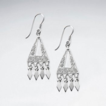 Open Triangle Charm Dangle Drop Hook Earrings