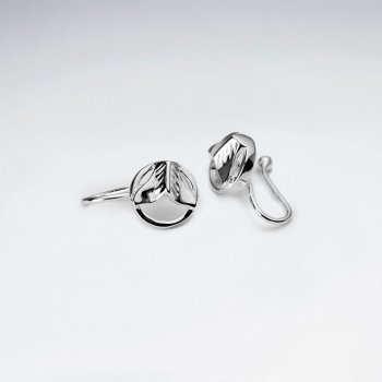 Openwork Design Polished Sterling Silver Ear cuffs