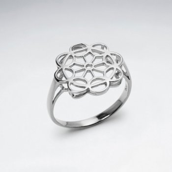 Openwork Signet Inspired Sterling Silver Ring