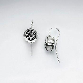 Orange Slice Inspired Button Drop Earrings
