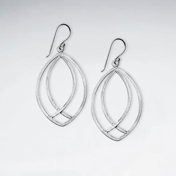Organic Openwork Sterling Silver Large Earrings