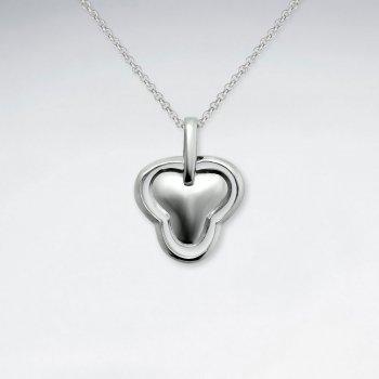 Organic Silver Charm Pendant