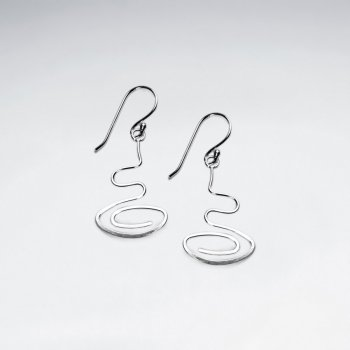 Organic Spiral Sterling Silver Earrings