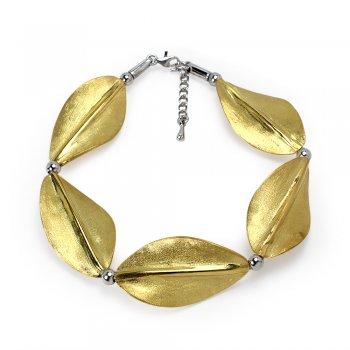 Organic Wave Leaf Inspired Bracelet