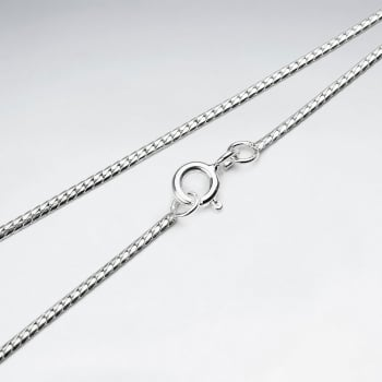 Oval Single Curb 925 Silver Chain
