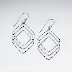 Overlapping Marquise Cutout Dangle Earrings