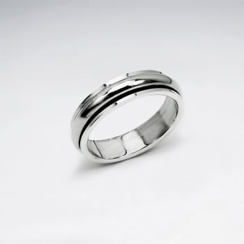 Oxidized Braided Rope Silver Band