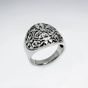 Oxidized Filigree Sterling Silver Ring