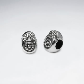 Oxidized Silver Animal Bead Pack Of 2 Pieces