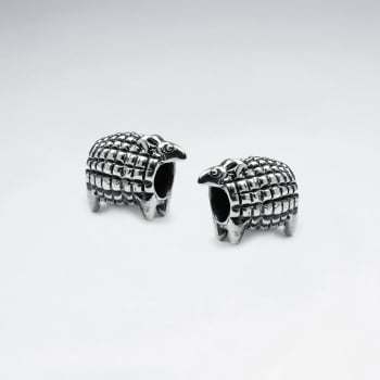 Oxidized Silver Armadillo Bead Pack Of 5 Pieces