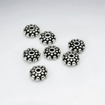 Oxidized Silver Bali Beads Pack Of 20 Pieces