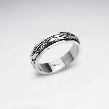 Oxidized Silver Braided Ring
